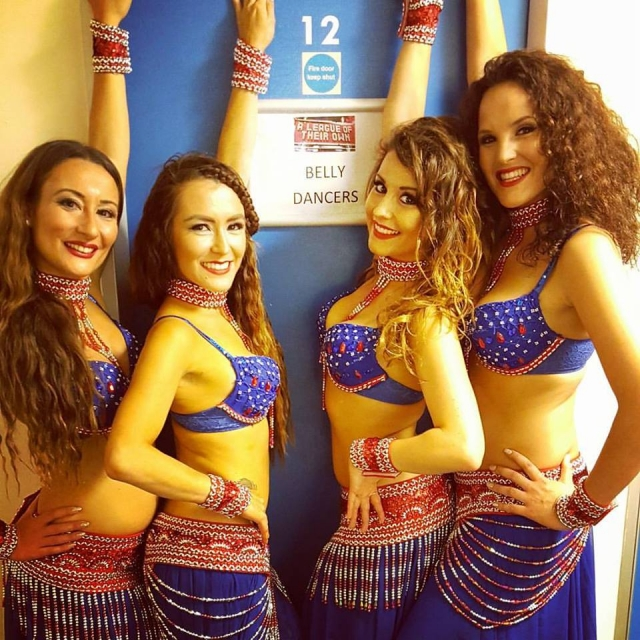 A league of our own - london belly dance troupe performing on Sky 1's A League of Their Own