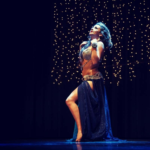 Solo performance in Barcelona by Katie Alyce London Belly Dancer