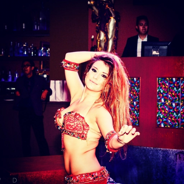 Katie london belly dancer performing in Singapore