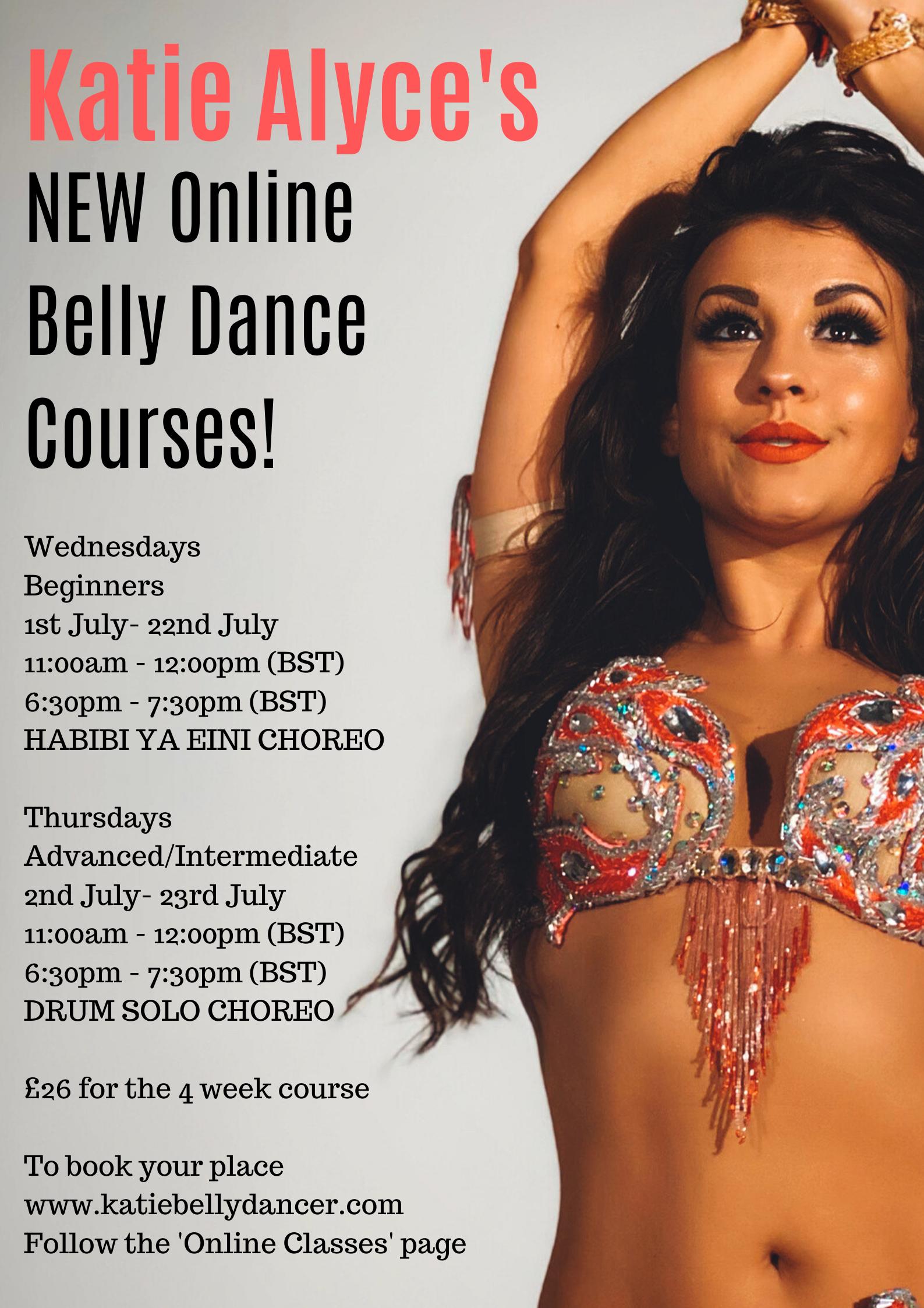 Katie's online belly dance courses